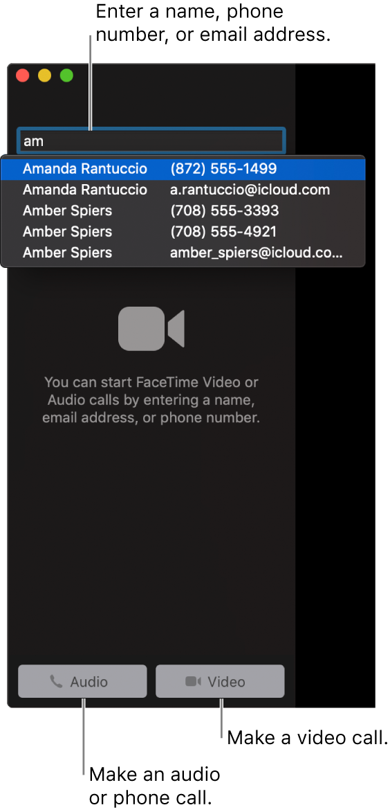 facetime iphone to mac not available