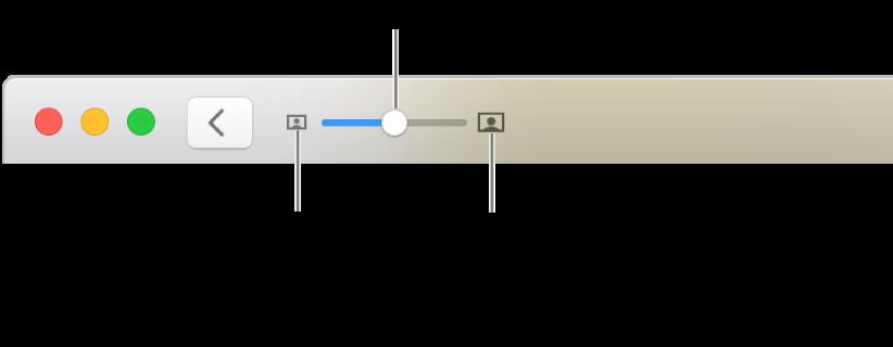 Työkalupalkki, jossa näkyy zoomaussäätimet.