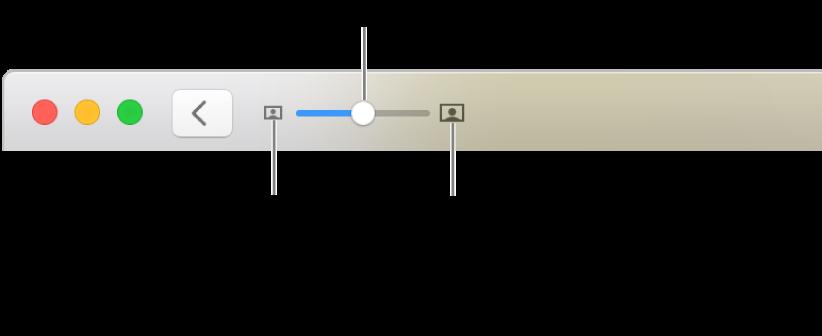 Alatna traka prikazuje kontrole za zumiranje.