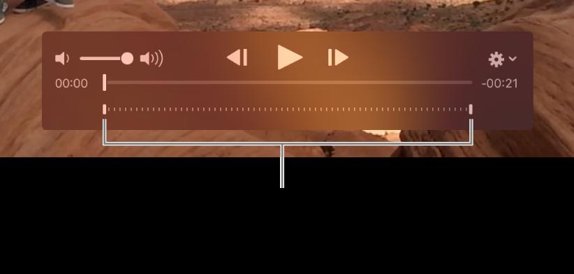 Các điều khiển quay chậm trong clip video.