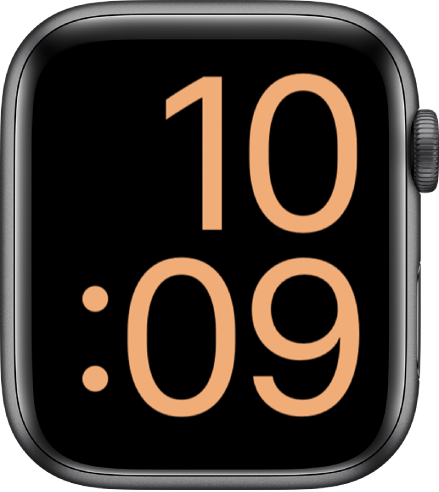 The X-Large watch face displays the time in digital format, filling the screen.