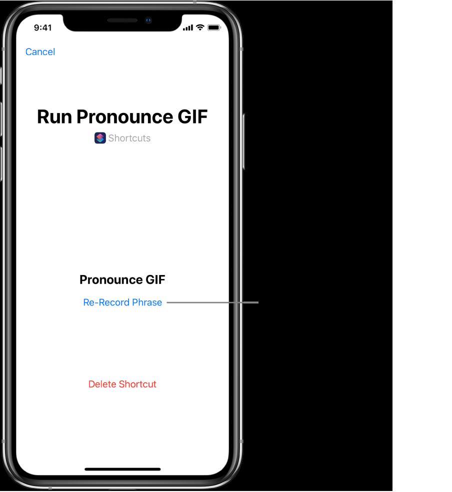 Rerecord button in Siri screen.