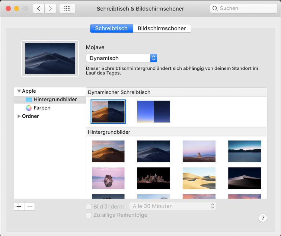 ändern Des Schreibtischhintergrunds Auf Deinem Mac Apple Support