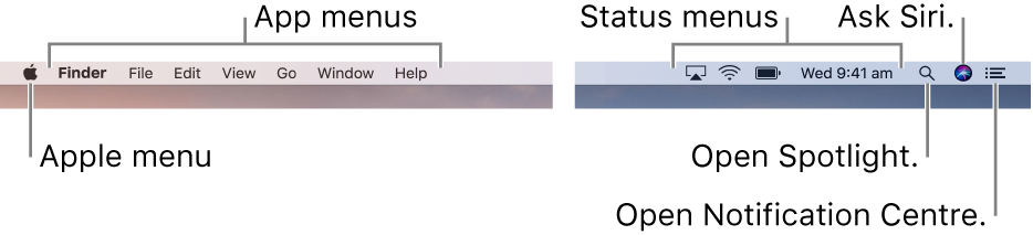 The Menu bar.