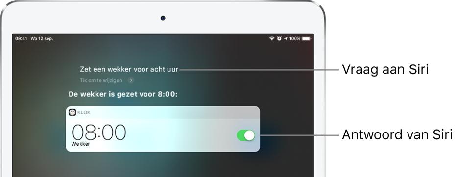 siri vragen stellen op de ipad - apple support