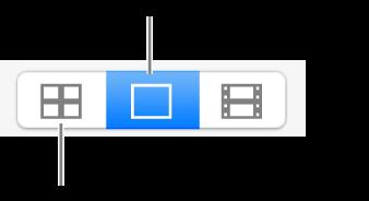 De knop voor vier foto's en de fotoknop.