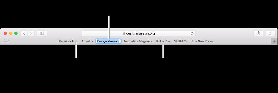 Anpassen Des Safari Fensters Auf Dem Mac Apple Support