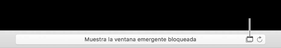 El campo de búsqueda inteligente con un icono a la derecha para permitir ventanas emergentes.