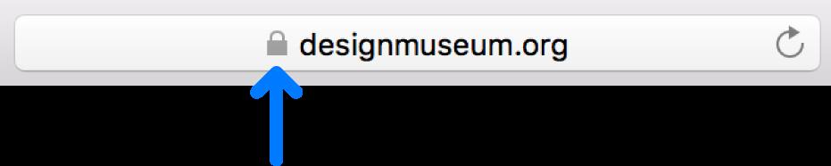 L'icona di codifica (simile a un lucchetto) per un sito con un certificato standard.