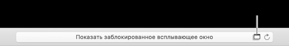 Поле смарт-поиска со значком для разрешения отображения всплывающих окон справа.