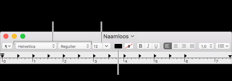 De grootte, de kleur en het lettertype van tekst aanpassen.