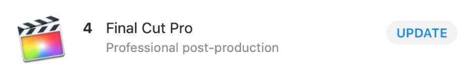 """App-Informationsblase mit der Taste """"Update"""""""