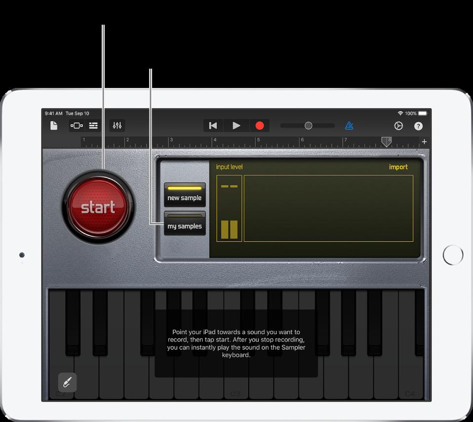 "Touch-Instrument ""Sampler"""