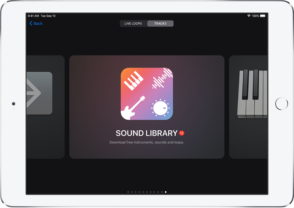 Sound Library in the Sound browser