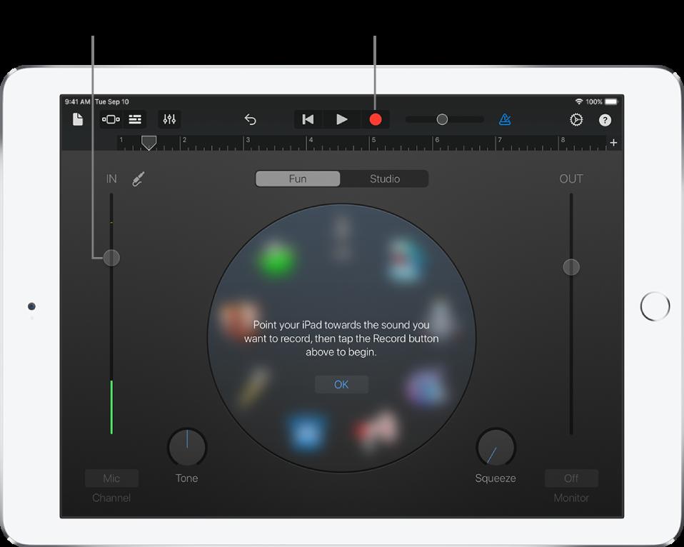 Instrumento táctil Grabadora de audio