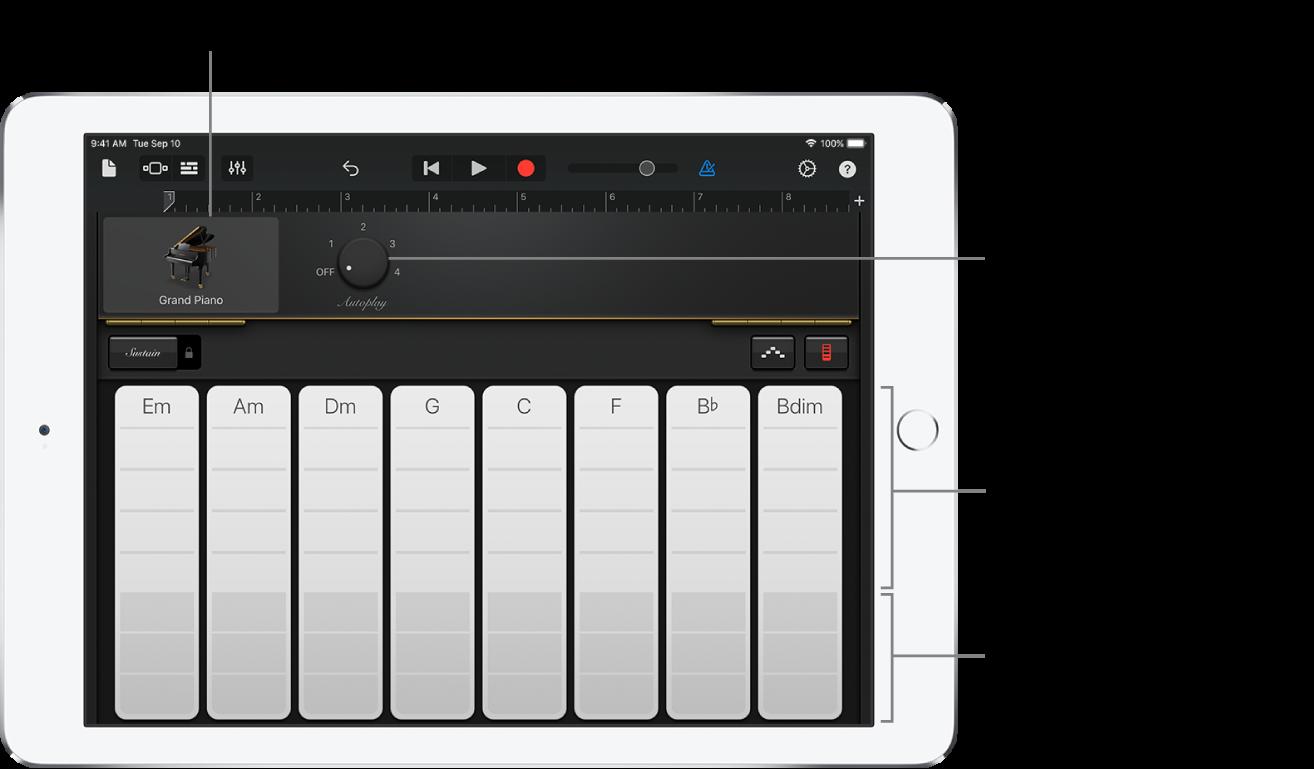 Tira de acordes del teclado