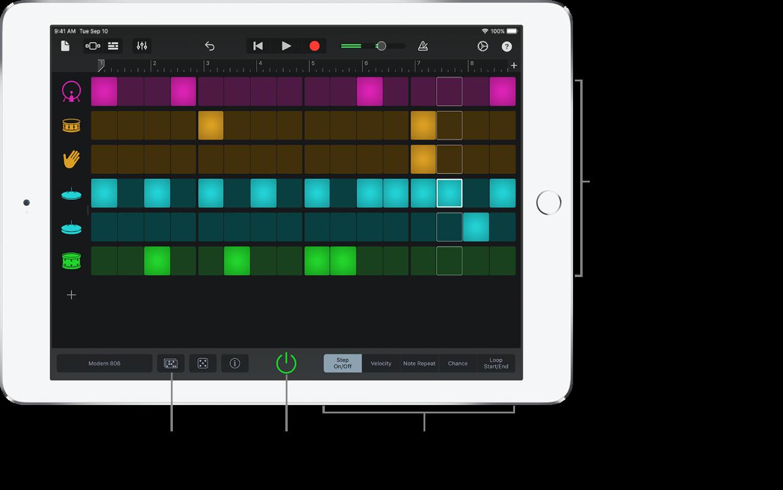 Instrument tactile Séquenceur de rythme
