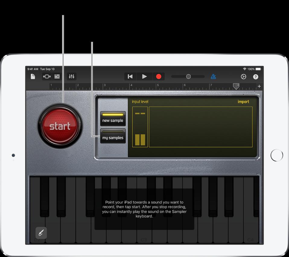 Instrument tactile Échantillonneur