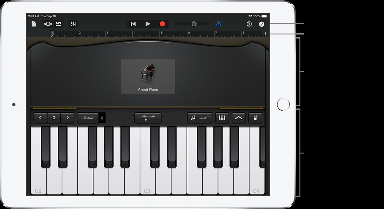 Touch-instrument met regelaars- en bespeelgedeelte