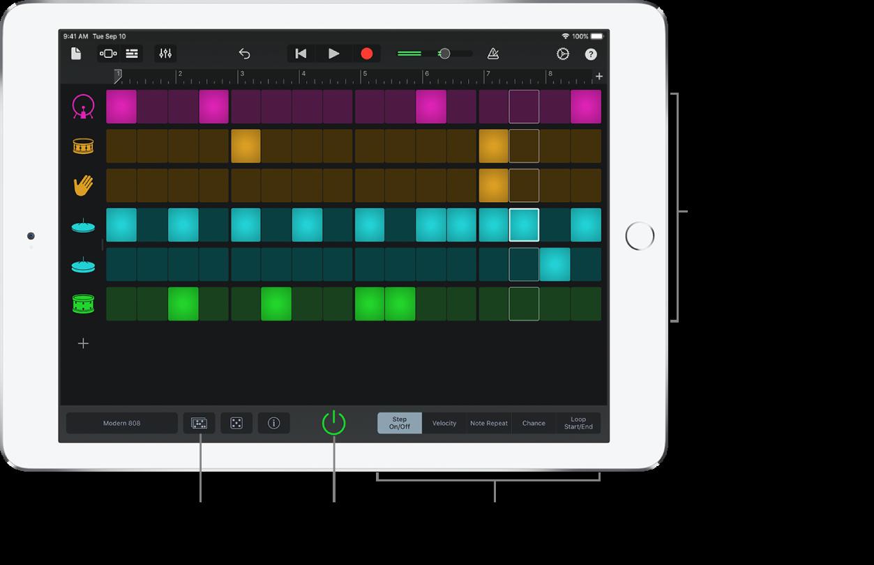Touch-instrument Beatsequencer