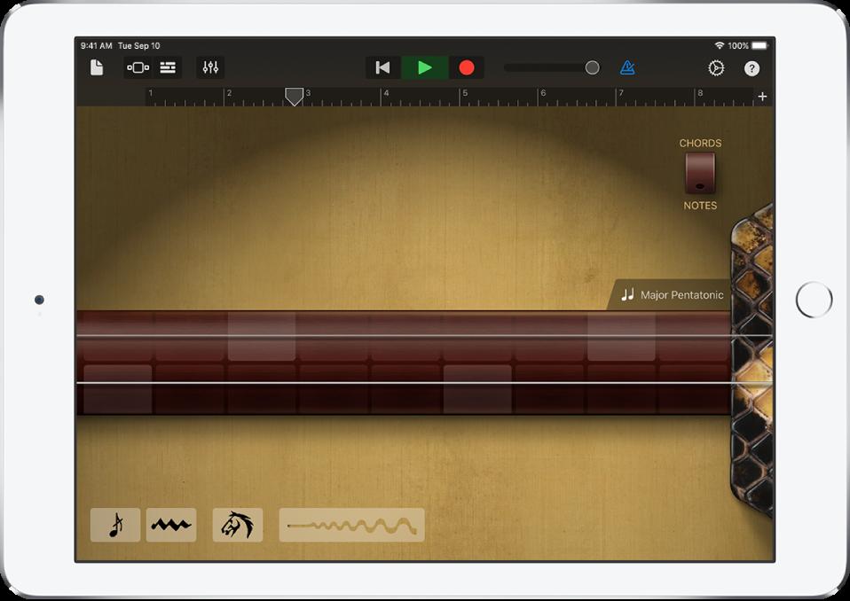 Bruk Lydopptaker i GarageBand for iPad Apple kundestøtte