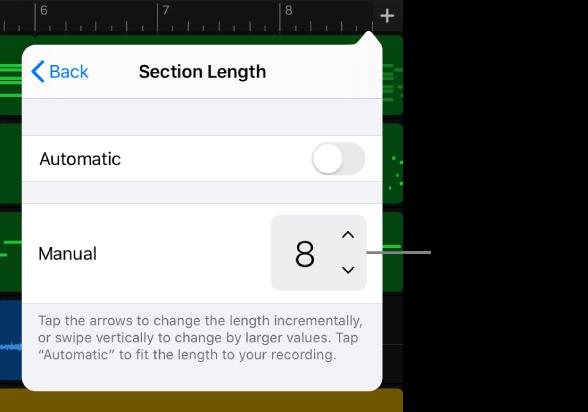 Parça bölümünün uzunluğunu değiştirme denetimleri