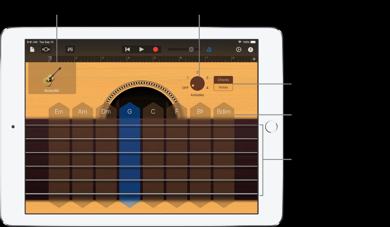 Екранний інструмент «Гітара»