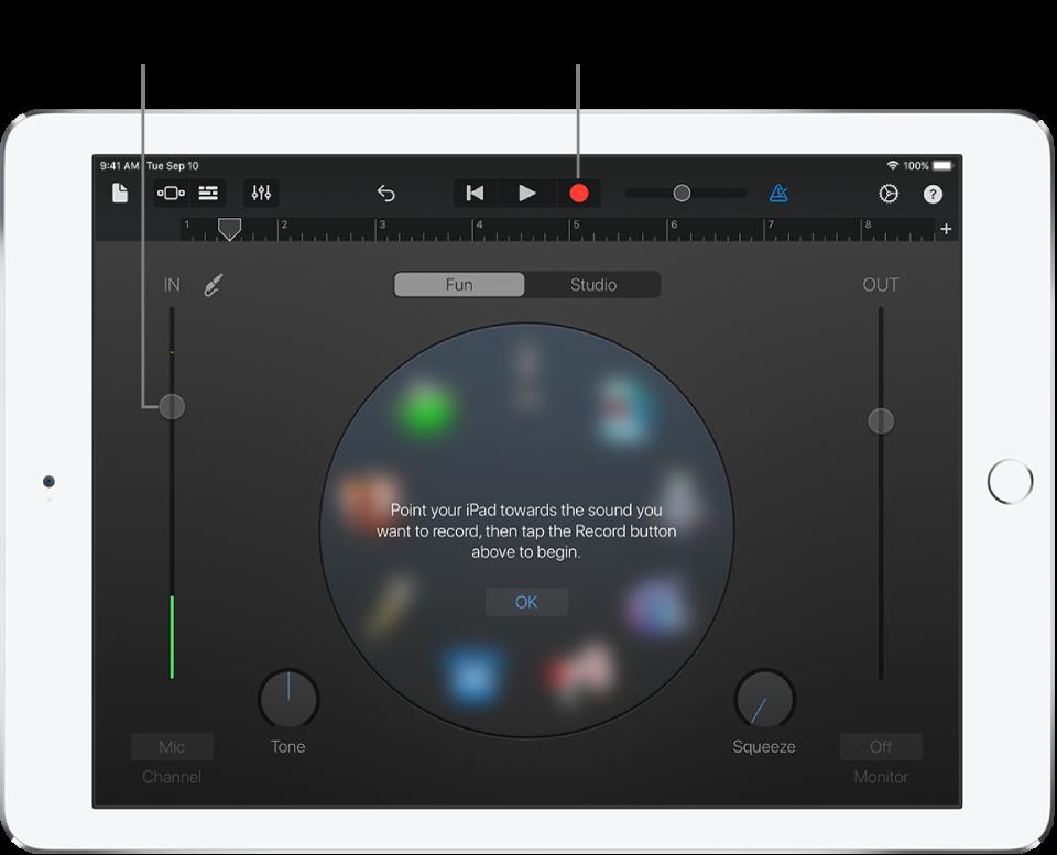 Nhạc cụ cảm ứng Bộ thu âm thanh