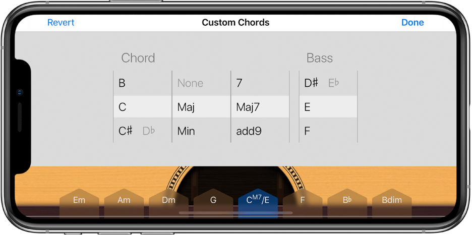 Custom Chords control wheels