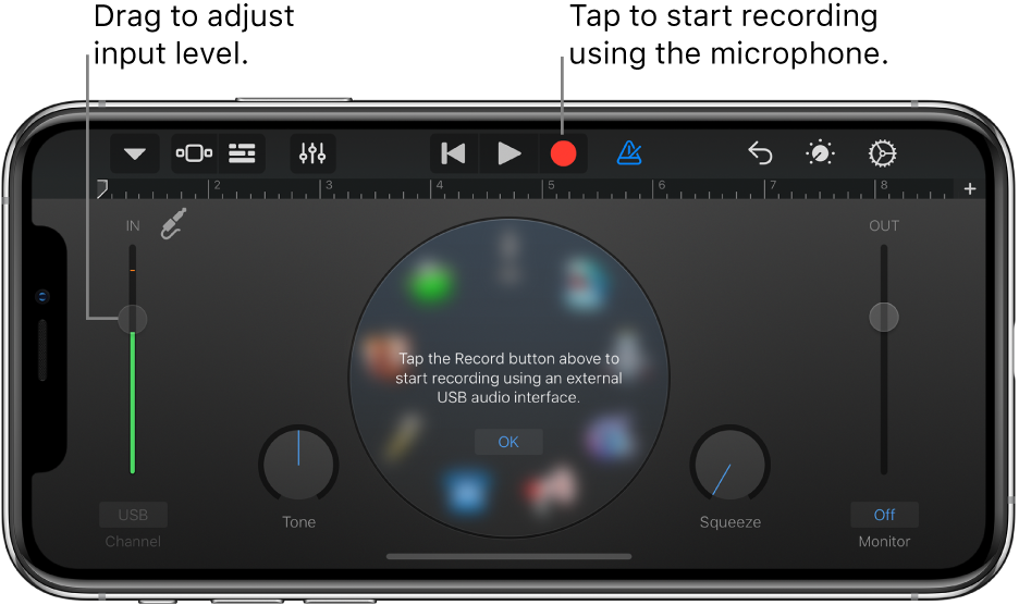 Audio Recorder Touch Instrument