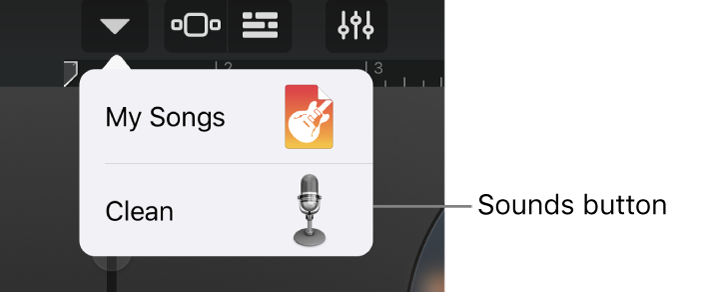 Studio View Sounds button