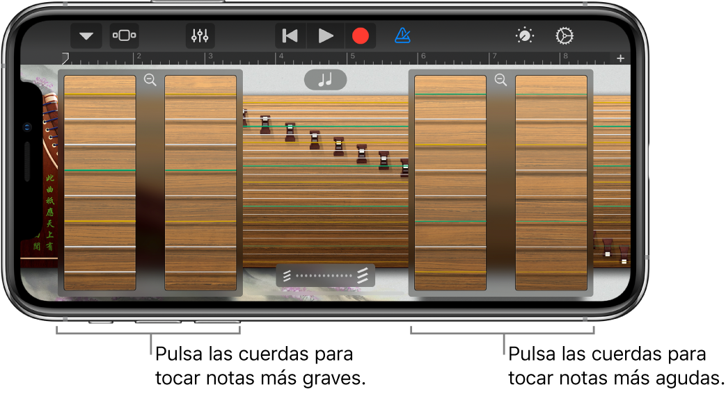 Cuadros de zoom de guzheng