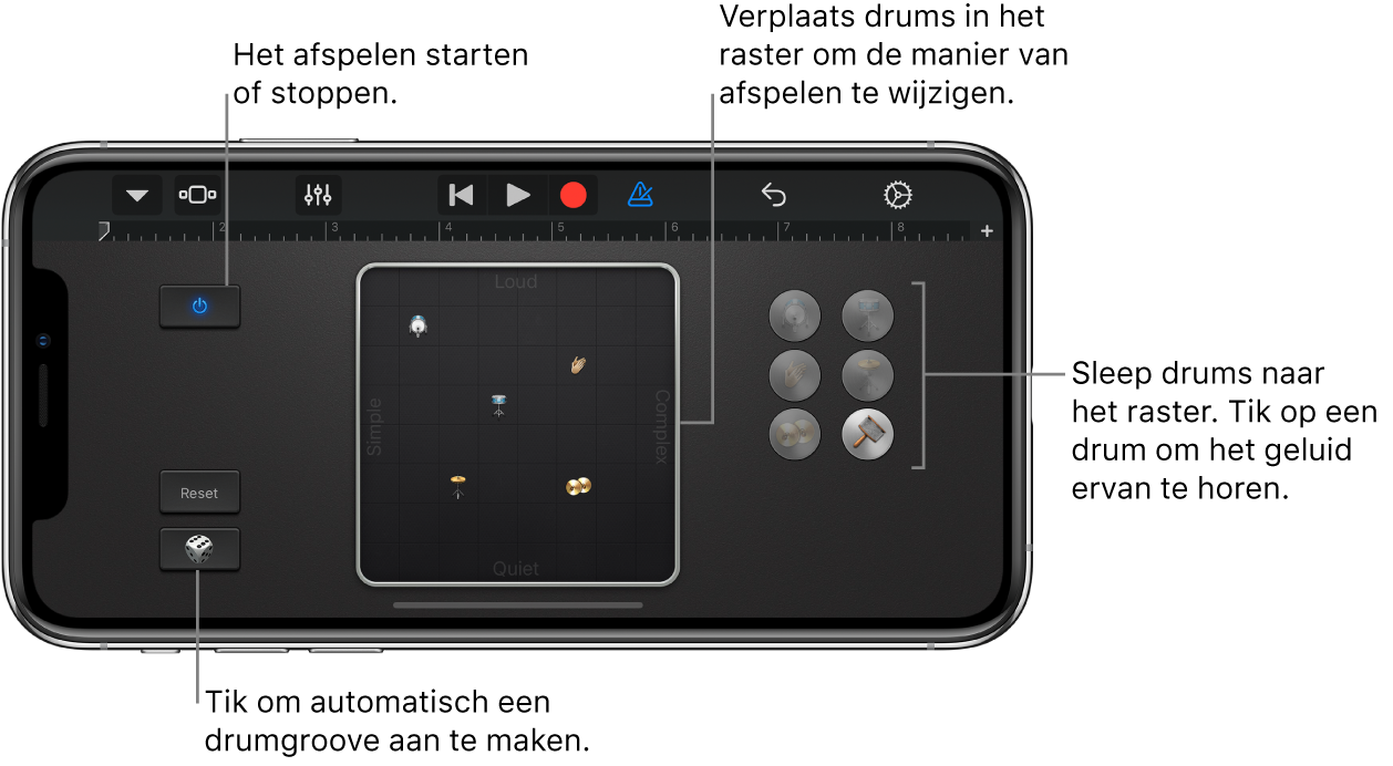 Touch-instrument Smart Drums