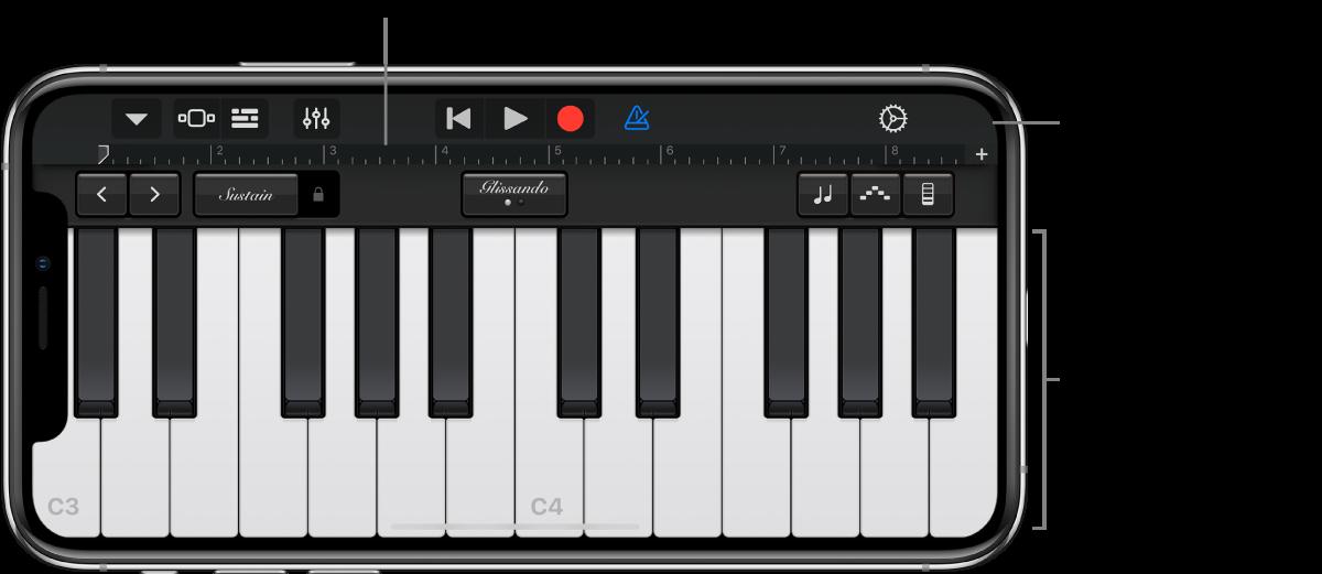 Touch-instrument met bespeelgedeelte