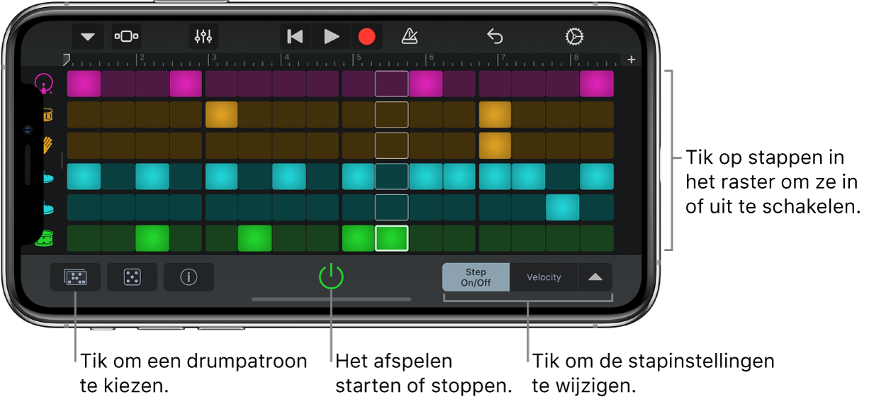 Touch-instrument Beatsequencer