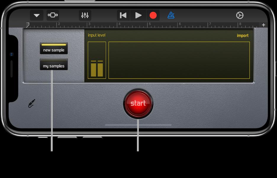 Sampler Touch-instrument