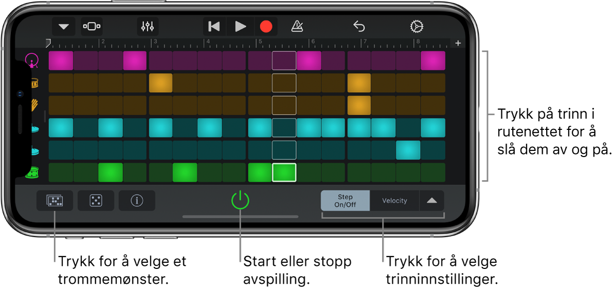 Bruk Lydopptaker i GarageBand for iPhone Apple kundestøtte