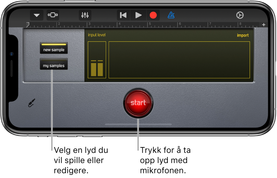 Touch-instrumentet Sampler
