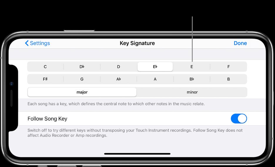 Toneartkontroller i sanginnstillinger