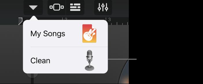 Przycisk Dźwięki wwidoku Studio