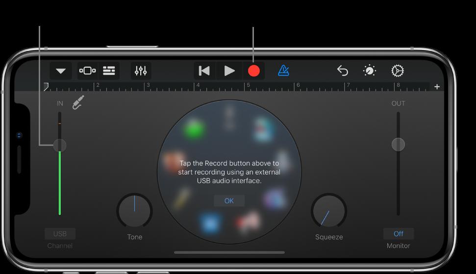Instrument dotykowy Rejestrator audio