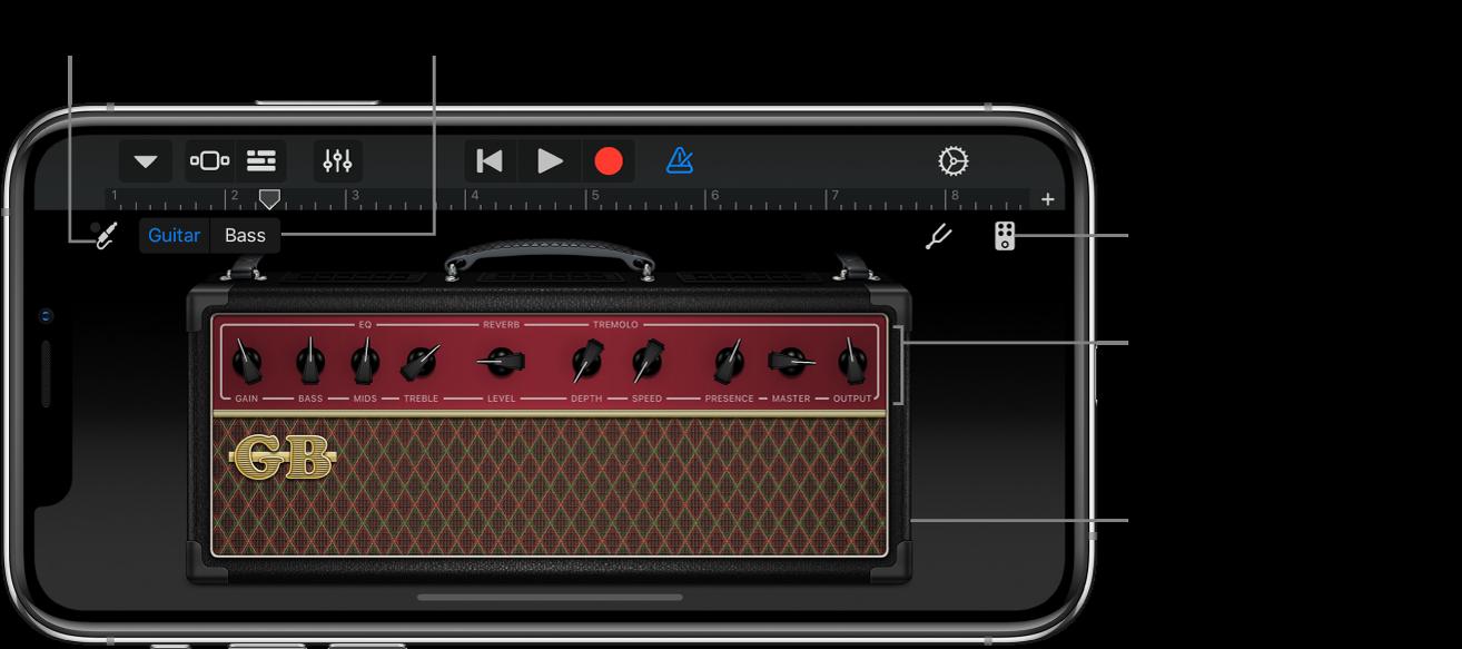 Touch-инструмент «Гитарный усилитель»