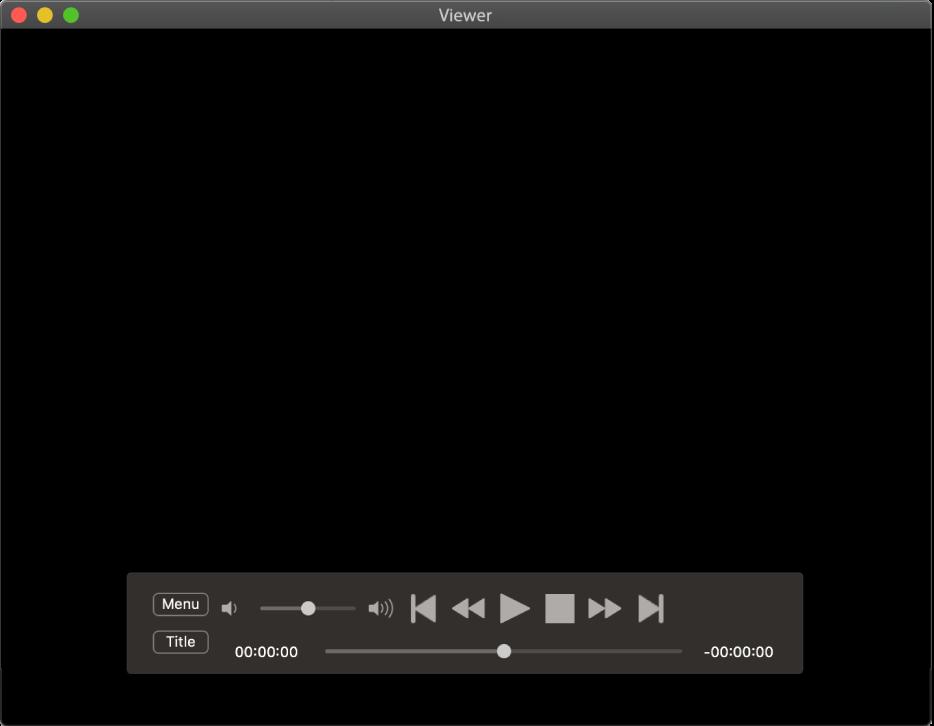 Ovladač DVD přehrávače, obsahující vlevo nahoře jezdec hlasitosti audolního okraje lištu přehrávání. Přetažením jezdce na liště můžete přejít na jiné místo vpřehrávaném obsahu