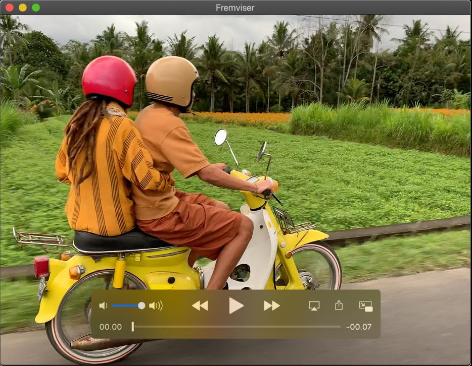 Vinduet Dvd-afspiller viser afspilning af en dvd-film.