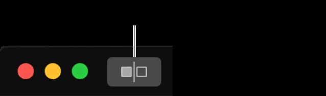 """El botó """"Sense ajustos"""", al costat dels controls de la finestra a la cantonada superior esquerra de la finestra."""