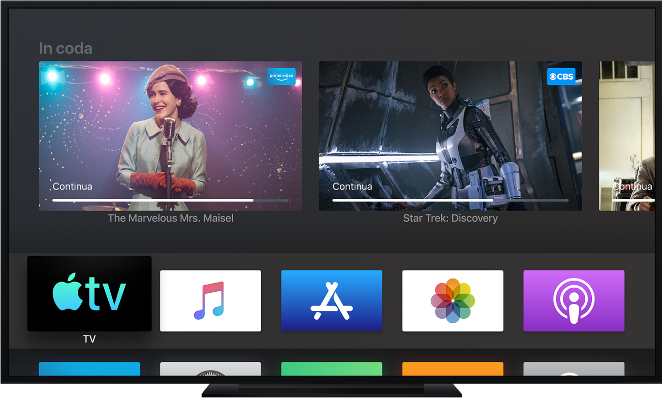 Un dispositivo Apple TV