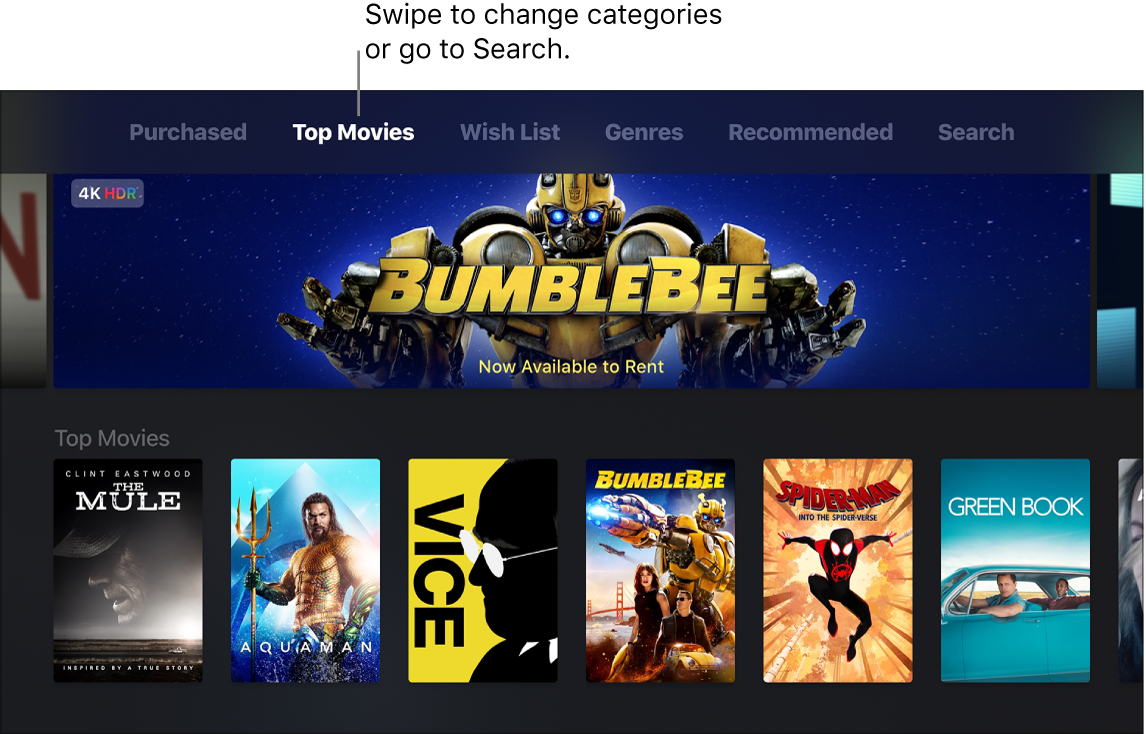 Watch iTunes movies and TV shows on Apple TV - Apple Support