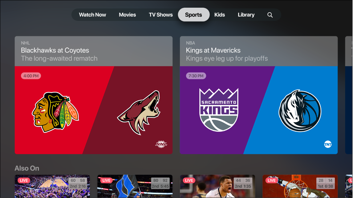 Sports in the Apple TV app - Apple Support