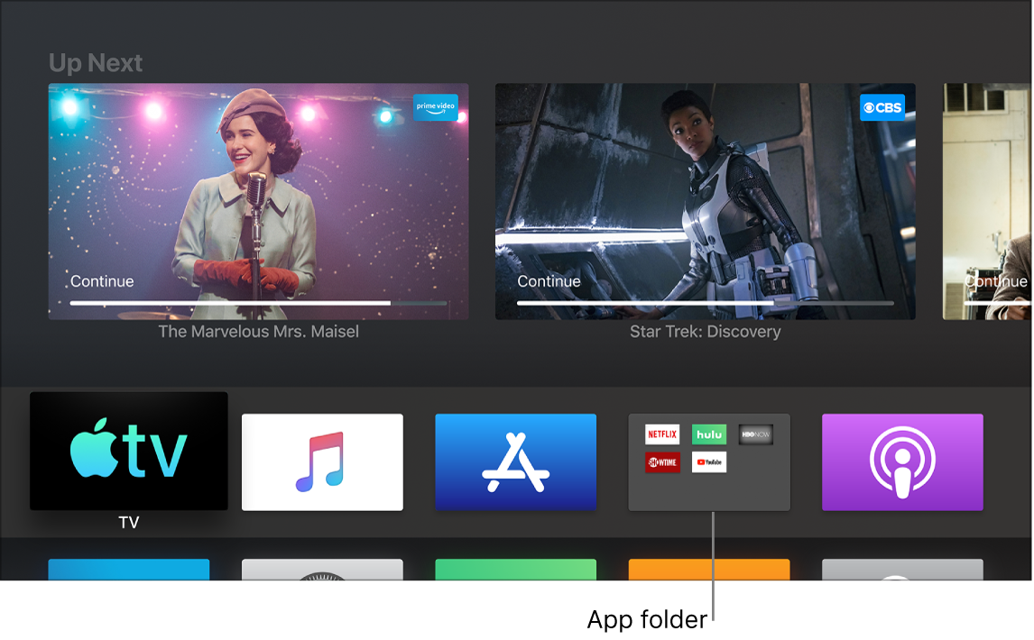 Customize the Apple TV Home screen - Apple Support