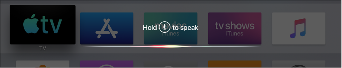 Home screen showing Siri prompt